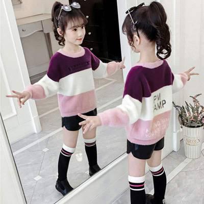 河南安阳哪里有针织童装毛衣批发市场 秋冬季赶集甩卖女士童装毛衣批发