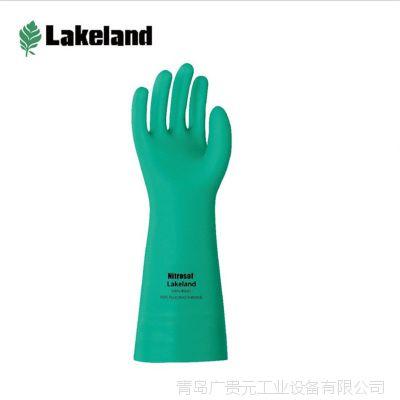 雷克兰EN15F丁腈橡胶高性能防化手套 耐腐蚀防滑手套 抗化学手套
