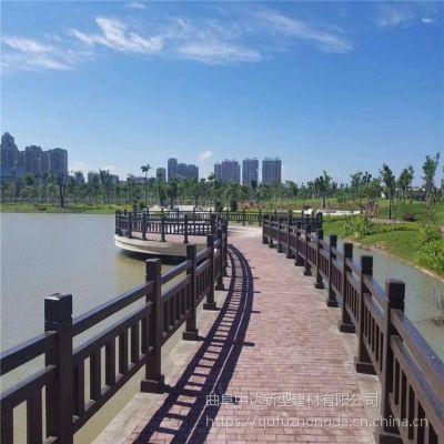 混凝土景观仿木护栏定制 水泥仿木河堤河道仿树皮栏杆 厂家专业定制