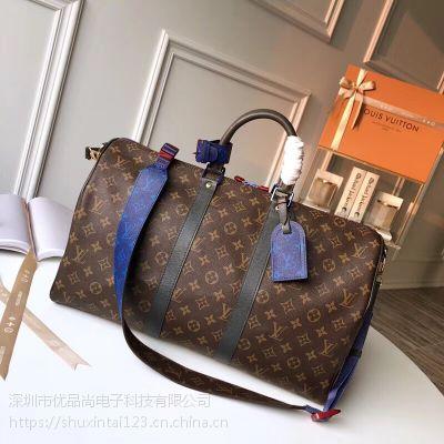 【现货】Louis Vuitton LV Keepall 45 55 棕色 旅行包 M43858