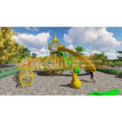 趣味户外亲子乐园 植物形游乐设施 攀爬滑梯多功能游乐设施