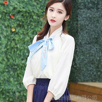 汉服古装服装衣服中国风仙女装襦裙改良版日常写真绣花夏侠女古代