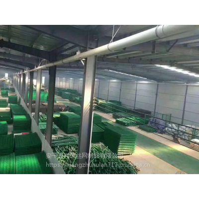 铁网围栏厂家浸塑铁丝网护栏围栏网安全网绿色铁网