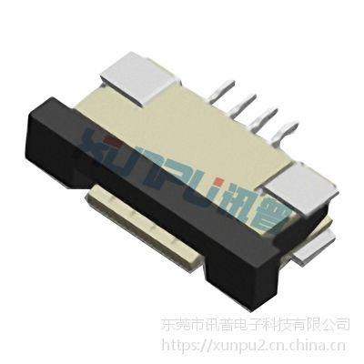 1.0mm间距卧式抽屉式下接FPC插座1.0S-EX-NPWB
