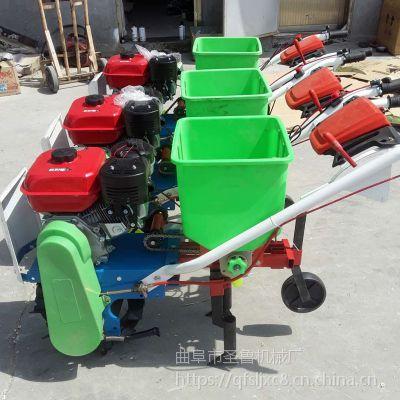 湖北家用玉米播种机 广西大豆施肥播种机 圣鲁机械