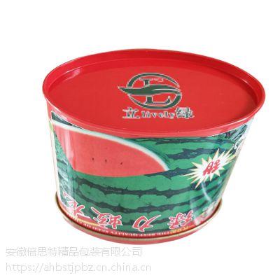 种子罐厂家 定制椭圆形铁罐 果蔬金属盒供应