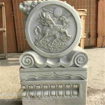 石雕门墩汉白玉门鼓石鼓抱鼓家庭寺庙庭院仿古雕刻摆件工艺品