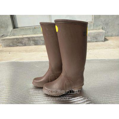 亚源17000V高压橡胶绝缘靴 7000V带电作业用YS绝缘靴 长筒绝缘缘靴