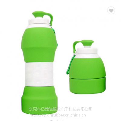 580毫升可折叠硅胶旅行水瓶 硅胶折叠水瓶 时尚折叠硅胶水瓶
