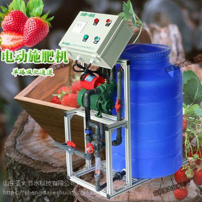黑龙江水肥一体化投入 经济实惠的手动施肥机草莓种植简单好操作