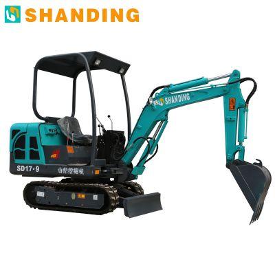 山鼎挖掘机 垃圾场清理小型挖掘机 多功能迷你小挖机