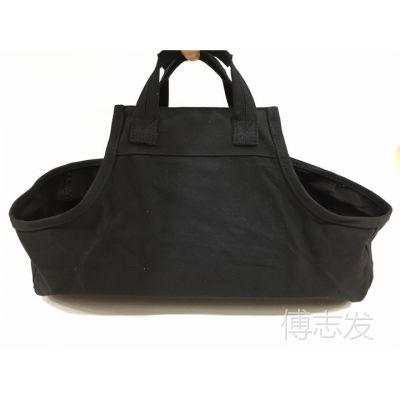 正品原单特价 黑色帆布柴火包壁炉柴火包手提 加厚 耐磨 野外野炊