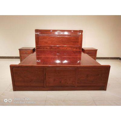 全国供应实木床双人床卧室家具花梨木刺猬紫檀1.8米大床