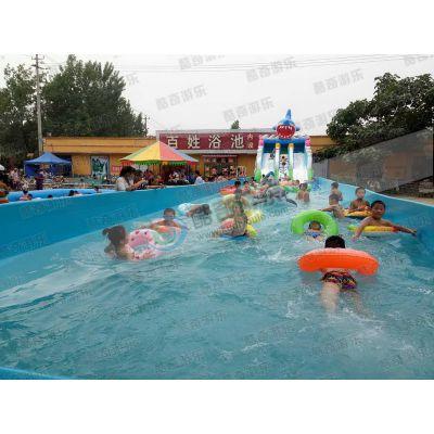 充气蹦蹦床-充气水池滑梯-水上乐园游乐设备
