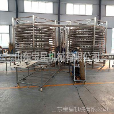 生产双螺旋速冻设备厂家 面积小产量大春卷速冻机 蛋挞螺旋速冻机