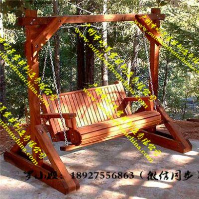 户外双人实木秋千阳台成人吊椅室内防腐木吊床庭院花园儿童摇篮