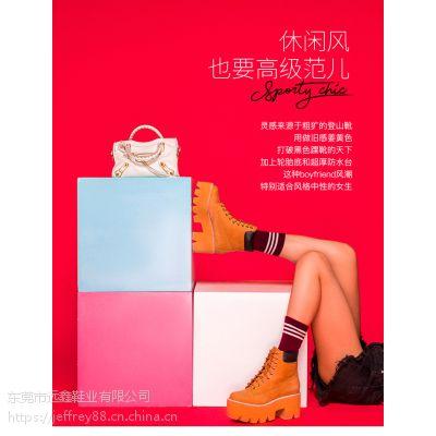 Jeffrey Campbell2018秋冬新品经典款黄军靴黄色厚底系带松糕女鞋
