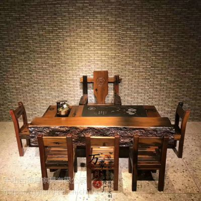 实木家具批发老船木流水茶台养鱼茶桌椅组合客厅茶几 茶桌 茶台