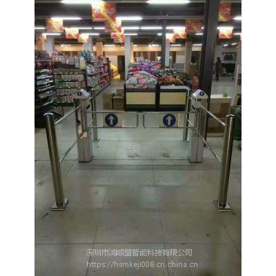 超市感应闸机 立式双向自动感应防盗门禁摆闸鸿顺盟制造HSM-BZ不锈钢通道闸