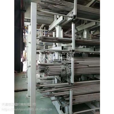 适用于长条钢材货架伸缩悬臂式吊车存放长条形钢材