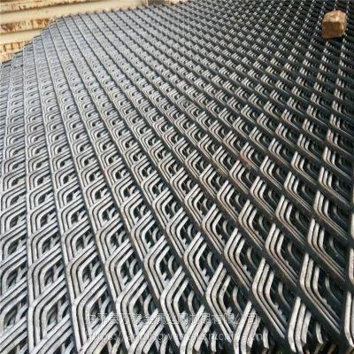6mm厚重型钢板网 塔吊平台用钢板网 菱形拉伸网价格