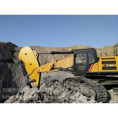 钩机岩石臂改装厂家、挖机鹰嘴臂、挖掘机单钩、改装钩机大小臂厂商