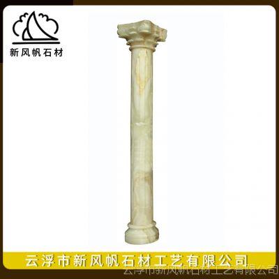 定做别墅室内装饰白玉罗马柱 大理石汉白玉花岗岩石材罗马柱