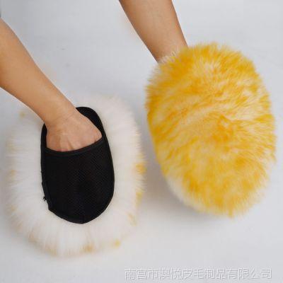 出口羊毛熊掌羊毛洗车手套擦车羊毛手套