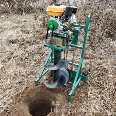 大面积种植树木移栽打洞机 双人操作工业钻坑打洞机 启航手提钻眼机