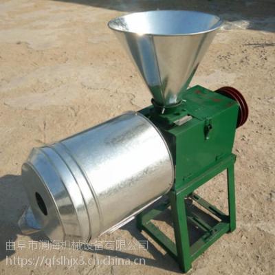 小麦面粉机 立式小型农用磨面机加用小型清粮机