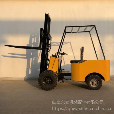 兴文电动叉车厂家直销1吨2吨充电式电动堆高车工厂液压转向升高叉车