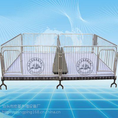 湖南新建猪场使用小猪保育栏双体保育床详细图
