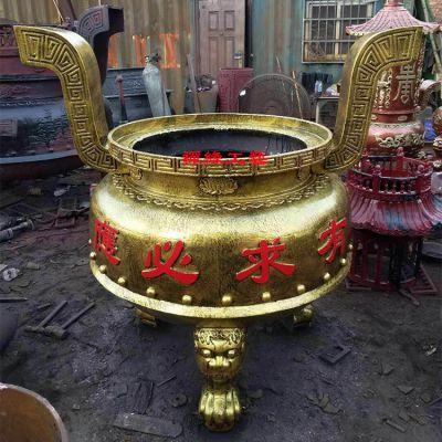 佛堂圆形平口铁香炉 江西新余庙宇香炉供应商