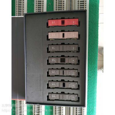 火车模型迷擬堂P64 10005 N比例棚车一套7节