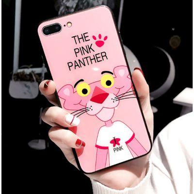 索浪达苹果手机壳防摔iphone粉红豹卡通玻璃手机套