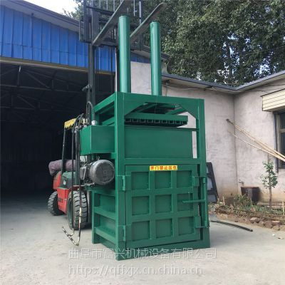 富兴纤维下脚料打包机 半自动油桶压扁机 30吨半自动吨袋打包机厂家