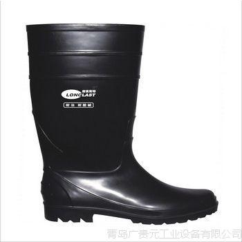 朗莱斯特全黑系列化工专用靴 防水耐酸碱耐油防滑水靴  耐油靴子