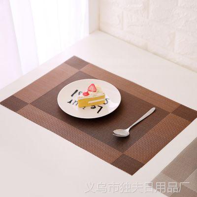 F1233 简约PVC隔热垫 西餐垫 创意防滑西餐垫防烫碗垫餐桌垫