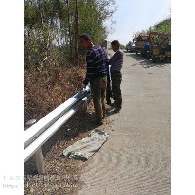 广西波形护栏厂家公路防撞钢护栏板生产安装