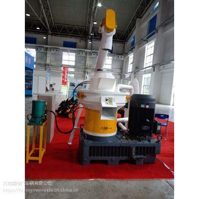 内蒙古花生壳时产2吨立式环模颗粒机 新一代生物质燃料颗粒机