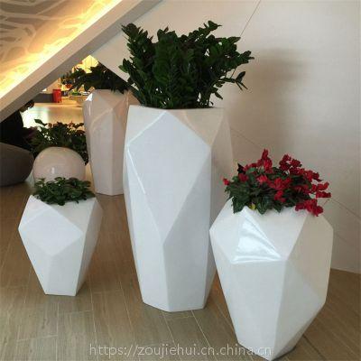 商场园林景观花盆花钵 树脂玻璃钢绿化美陈花箱 户外花坛花盆