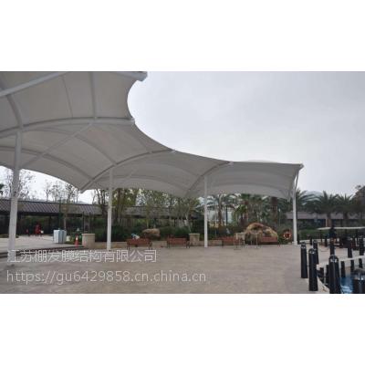 PVDF服务区景观膜结构度假区景观张拉膜棚火车站入口膜结构