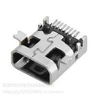 MINI/MICRO USB 连接器 CZ-806 外形尺寸:6.6mm*5.6mm*2.75m