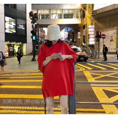 广东便宜摆地摊两三块女装T恤批发特价时尚纯棉T恤清货几元大码女装便宜批发