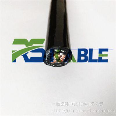 柔胜/RVV-NBR-1G-PUR聚氨酯卷筒电缆4芯2.5/6/10/16平方钢丝抗拉耐弯折