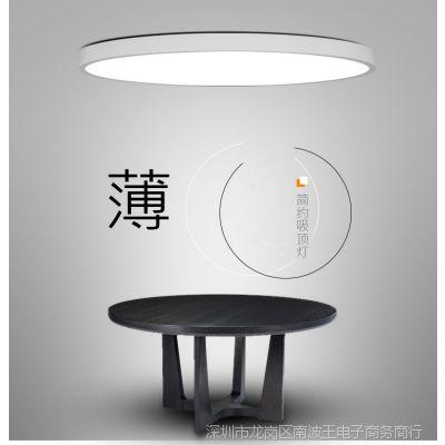 厨房楼梯黑色工作灯装饰室内家用型led吸顶灯照明灯吸盘灯圆形灯