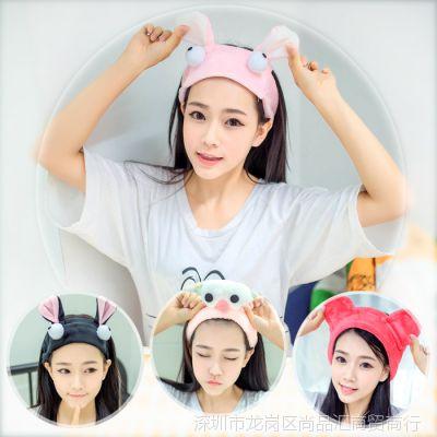 洗漱束发巾韩版洁面发套洗脸用的束发带韩式可爱短发清新头套发箍