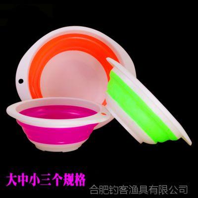 折叠型中号塑料拉饵盘 饵料盘 活饵盘 其他垂钓用品