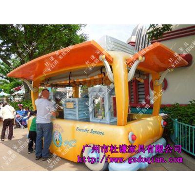 齐齐哈尔商业广场街景店车移动售货亭公园饰品售货车