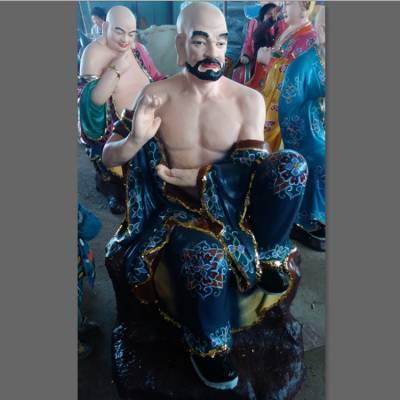 十八罗汉佛像批发 降龙罗汉大型佛像雕塑厂家